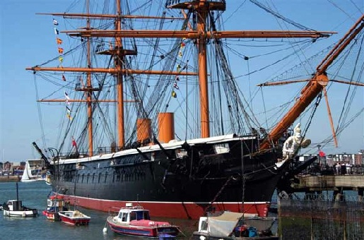 H.M.S. Warrior bei Portsmouth Historic Dockyard