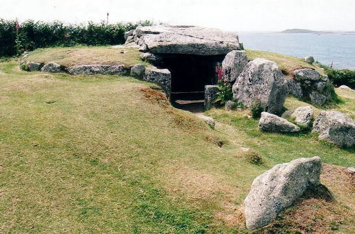 Grabstätte aus der Bronzezeit Scilly-Inseln