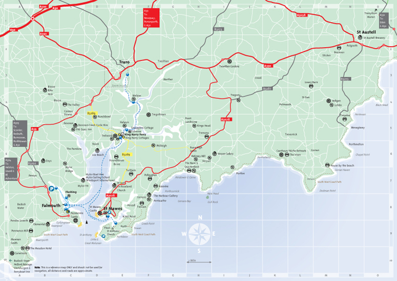 Urlaub Amp Reisen 187 Karte Der Roseland Halbinsel