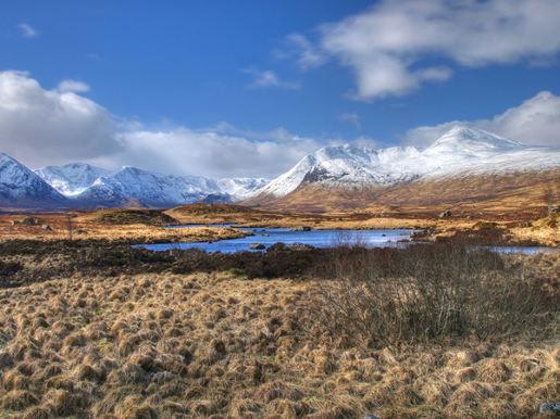 schönen Bergen von Schottland