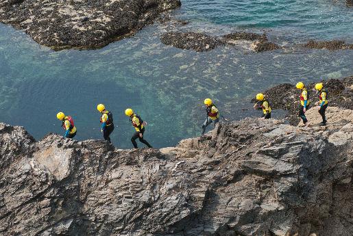 Coasteering Sued West England