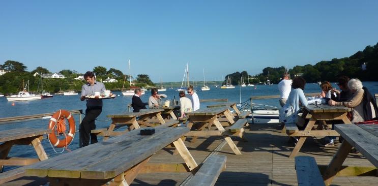 restaurant mit schoene Blick in Cornwall