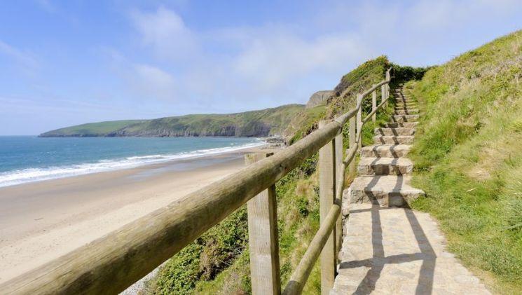 Abersoch strand wales Llyn Peninsula