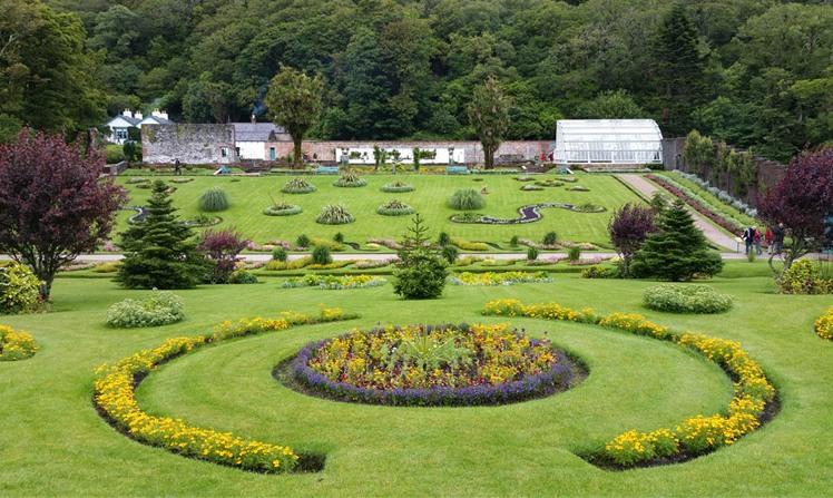 Kylemore Abbey Garten irland