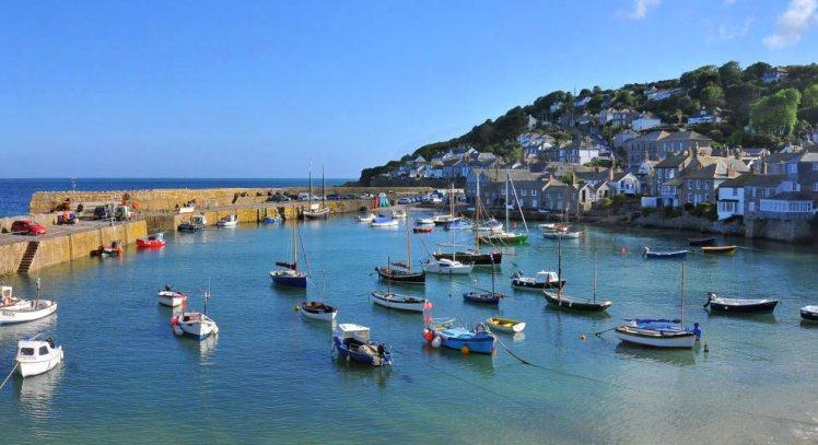 Cornwall-mousehole hafen