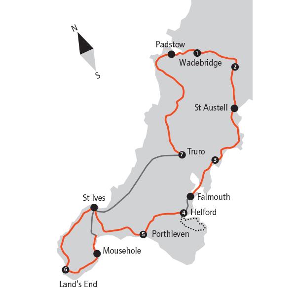 Geführte Radreise Cornwall: Ebikereise 8 Tage